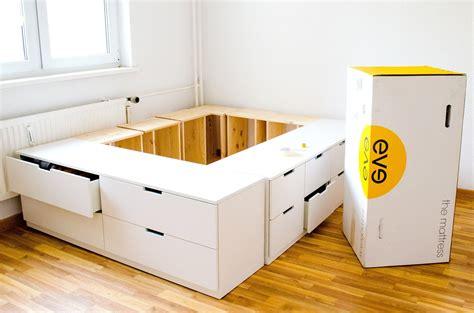 Bett Selber Bauen Ikea diy ikea hack plattform bett selber bauen aus ikea