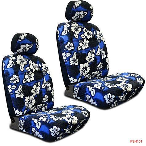 blue hawaiian flowers hibiscus print car front