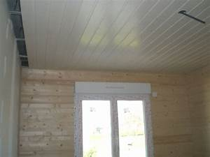 beau lambris pvc pour plafond salle de bain et pose With plafond pour salle de bain