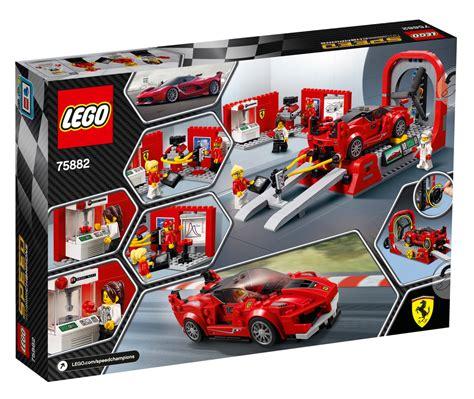 Accessory elements include the ferrari driver's helmet, a wrench and a portable data pad. LEGO Speed Champions: Ferrari FXX K & Development Center ...