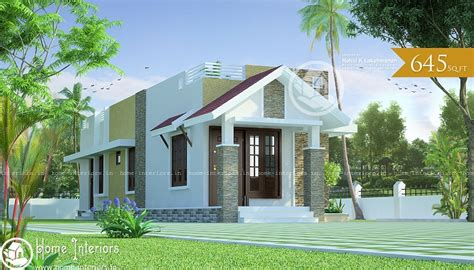 645 Sq Ft Single Floor Contemporary Home Designs