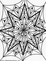 Coloring Kaleidoscope Therapeutic Printable Doodle sketch template