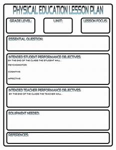 lesson plans physedreview With sports lesson plan template