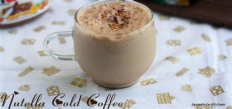 nutella cold coffee indian kid friendly recipe