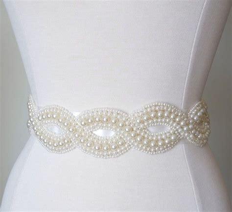 infinity pearl bridal dress sash products i love