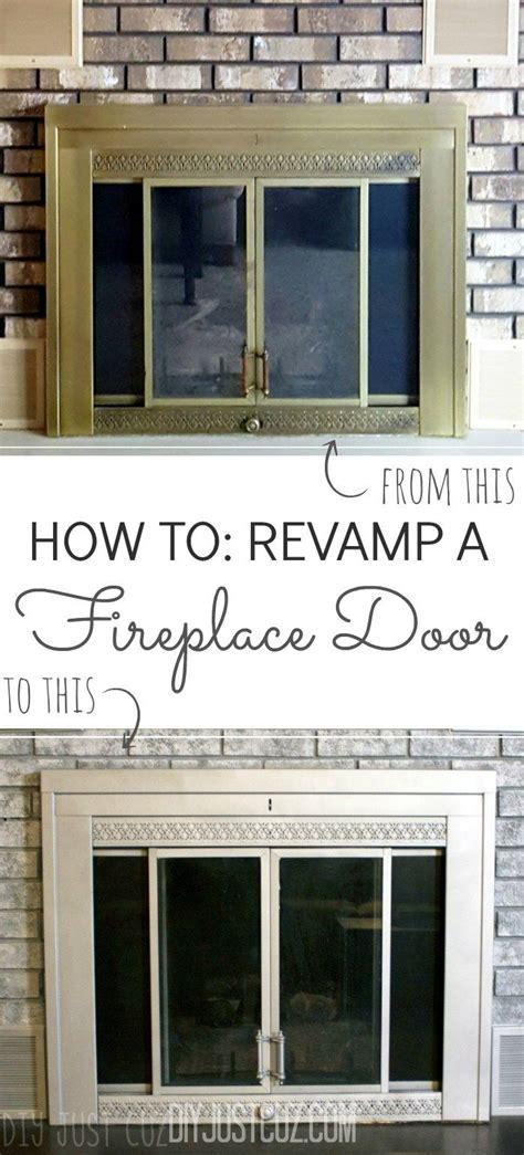 Fireplace Door Paint - rev your fireplace door fireplace doors spray