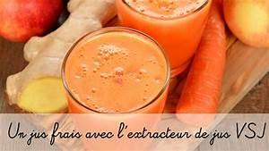 Jus Avec Extracteur : faire un jus de fruits de l gumes avec l 39 extracteur de jus vsj youtube ~ Melissatoandfro.com Idées de Décoration