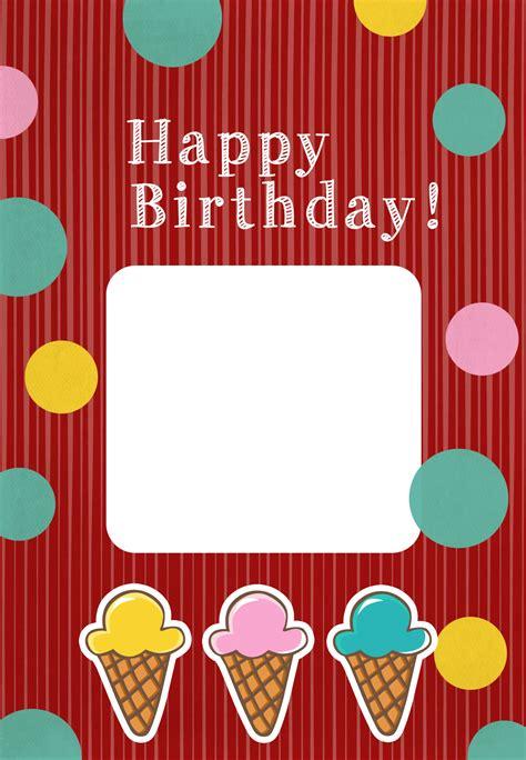 birthday icecreams birthday card   island