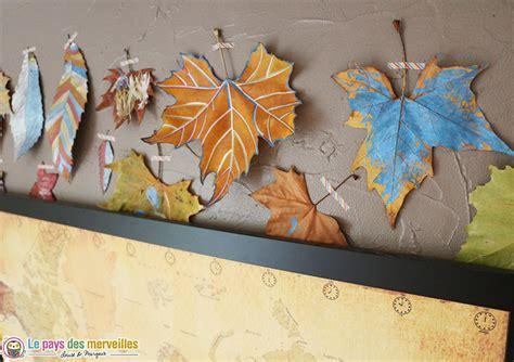 decorer des feuilles dautomne avec des feutres metallises