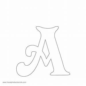 Alphabet printable images gallery category page 1 for Fun letter stencils