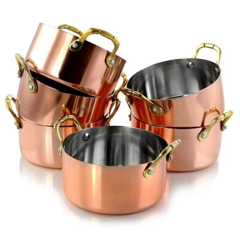 gibson home rembrandt    piece copper plated mini dutch oven   home depot