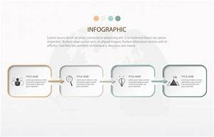Modern Infographics Four Step  Element Of Chart  Graph