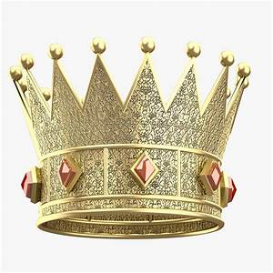 3D model King Gold Crown VR / AR / low-poly MAX OBJ FBX ...