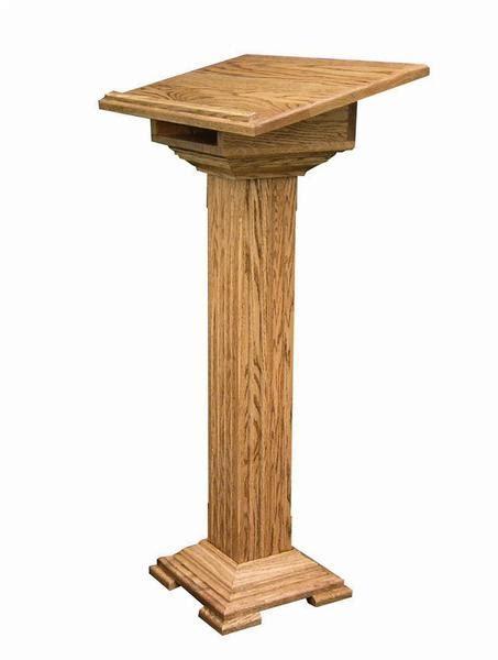hardwood medium podium  dutchcrafters amish furniture