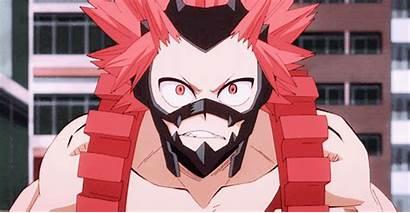 Hero Academia Kirishima Anime Characters Being Fan