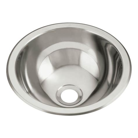 round stainless steel sink sterling drop in round stainless steal bathroom sink in