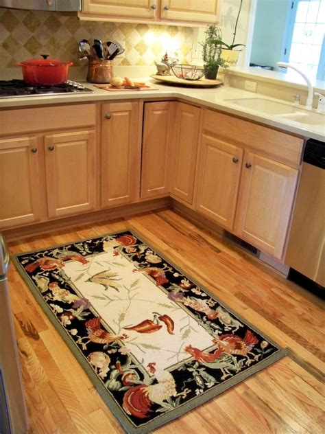 rooster kitchen rugs creating  country kitchen nuance