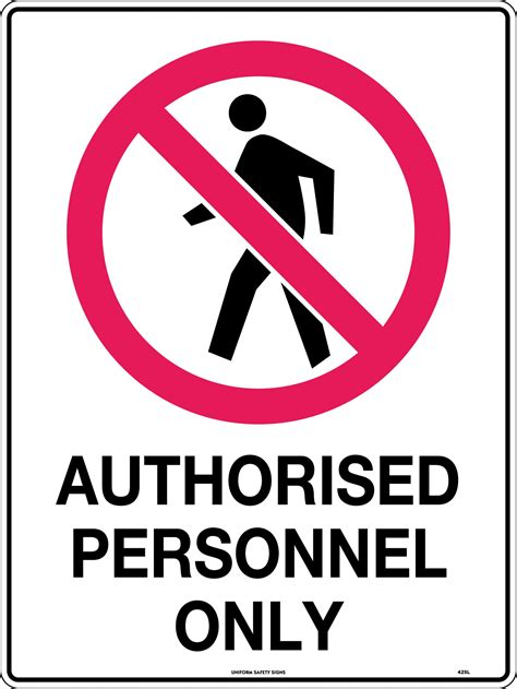 Authorised Personnel Only | Uniform Safety Signs
