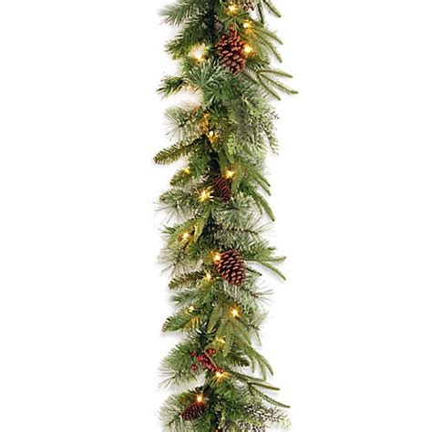 national tree company 9 foot colonial pre lit garland with