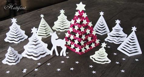 hattifants  paper christmas trees hattifant