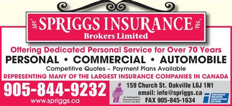 Spriggs Insurance Brokers Limited
