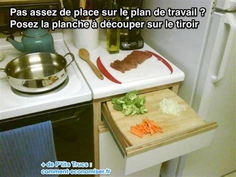comment couper plan de travail cuisine pas assez de place sur le plan de travail de cuisine l