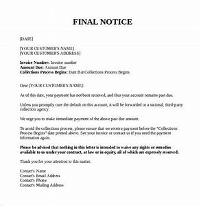 7 Final Notice Letter Download for Free Sample Templates