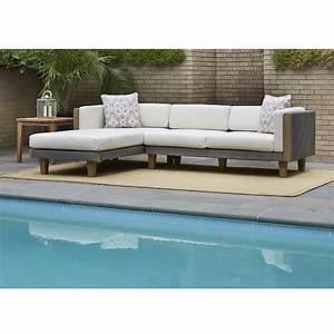 lloyd flanders catalina outdoor wicker l sectional with With wicker sectional sofa with chaise