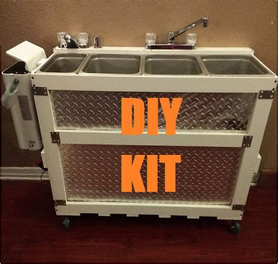 diy large portable concession sink kit  compartment