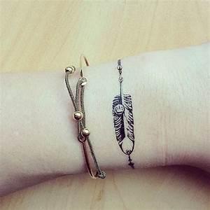 Tatouage Plume Poignet : 20 id es de tatouages pour le poignet rep r s sur ~ Melissatoandfro.com Idées de Décoration