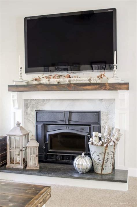 farmhouse fireplace how to cover your brick fireplace modern farmhouse style Modern