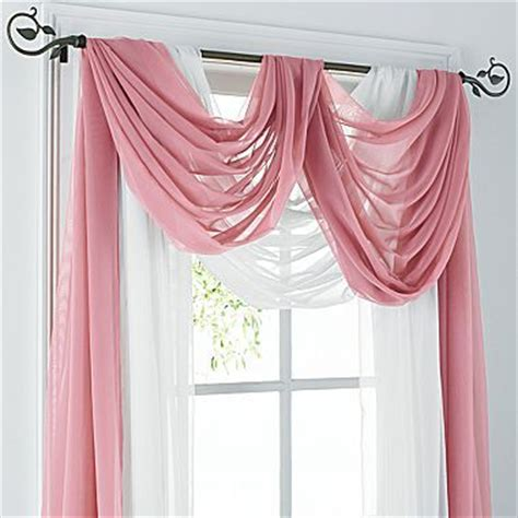 jcpenney lisette sheer curtains 1000 ideas about scarf valance on window