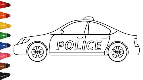 Coloring Menggambar by Cara Menggambar Dan Mewarnai Mobil Polisi Car