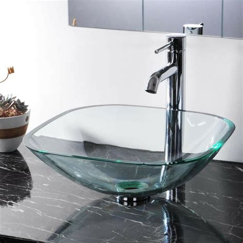 Bathroom Sinks Vessel Bowls by Modern Tempered Glass Bathroom Vessel Sink