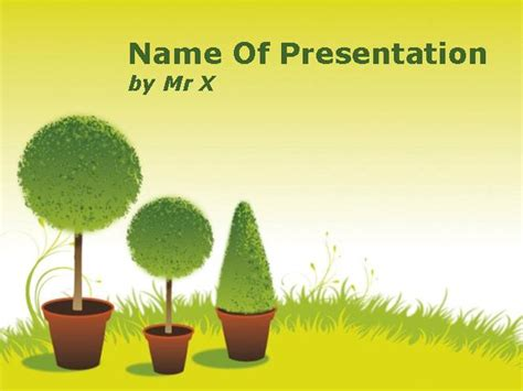 garden ppt garden during spring season powerpoint template