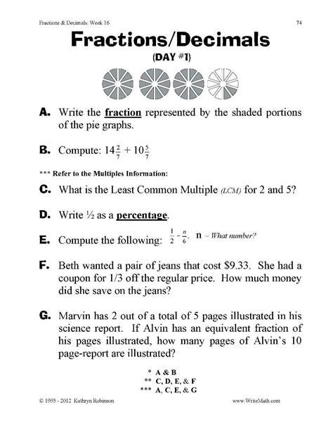 fourth grade fraction worksheets worksheet mogenk paper