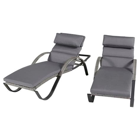 canne chaise rst brands cannes patio chaise lounges with charcoal grey