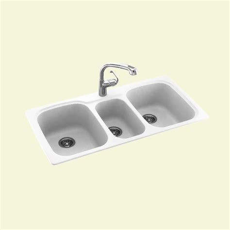 what is a triple bowl sink used for swanstone kstb 4422 0 dropin bowl triple basin kitchen