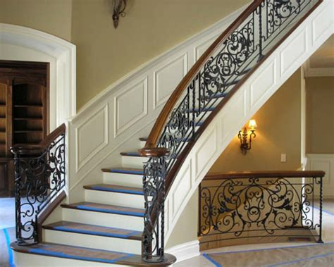 wrought iron handrail wrought iron stair railings interior founder stair 1193
