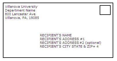 write address  letter  suite number