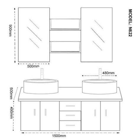 hauteur d un meuble de cuisine meuble vasque hauteur