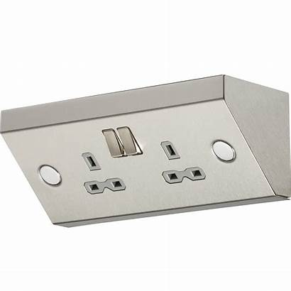 Socket Kitchen Worktop Steel Stainless 13a Mounting