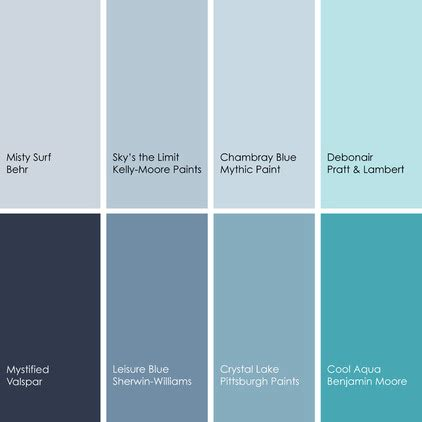 blue paint picks for dining rooms clockwise from top left