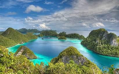 Indonesia Raja Ampat Islands Wallpapers Sky Clouds
