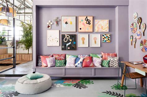 couleur mur cuisine tendance décoration colorée pour salon made in meubles