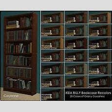 Mod The Sims  Billy Bookcase Recolors