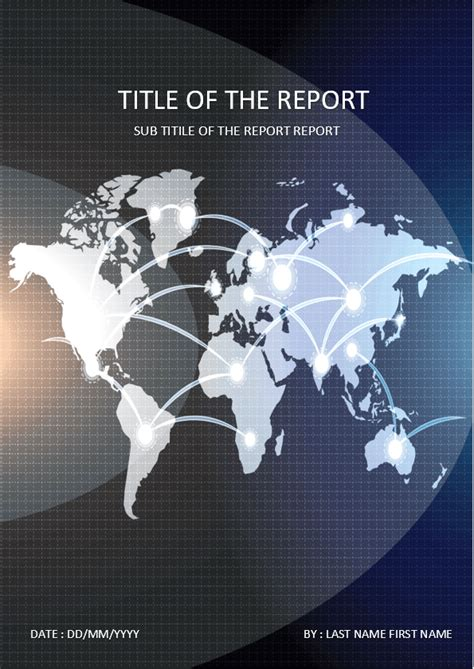 cover page  template  ms word world map cover