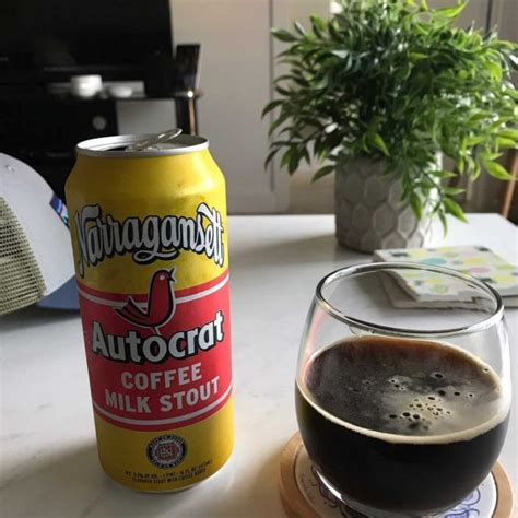 Freezing and chiiling temperature of the product is ambient: Autocrat Coffee Milk Stout - Narragansett Brewing Company | Photos - Untappd