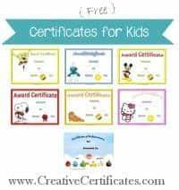 Free Training Completion Certificate Templates Certificates For Kids Free And Customizable Instant