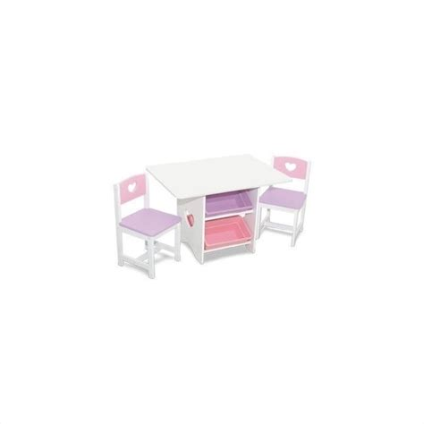 kidkraft heart table and 2 chair set 26913
